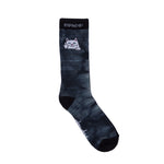 Peek A Nermal Socks (Black / White Dye)
