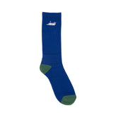 Castanza Socks (Navy / Hunter Green)