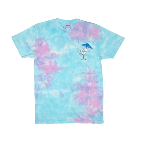 Dirty Nermtini Pocket Tee (Blue / Pink Acid Wash)