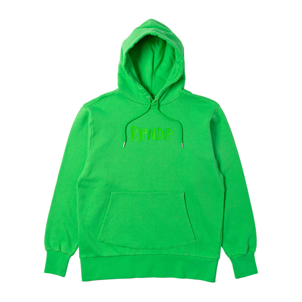 Rubber Logo Hoodie (Lime Green)