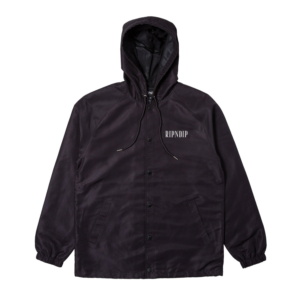 Lights Out Hooded Coaches Jacket (Black)