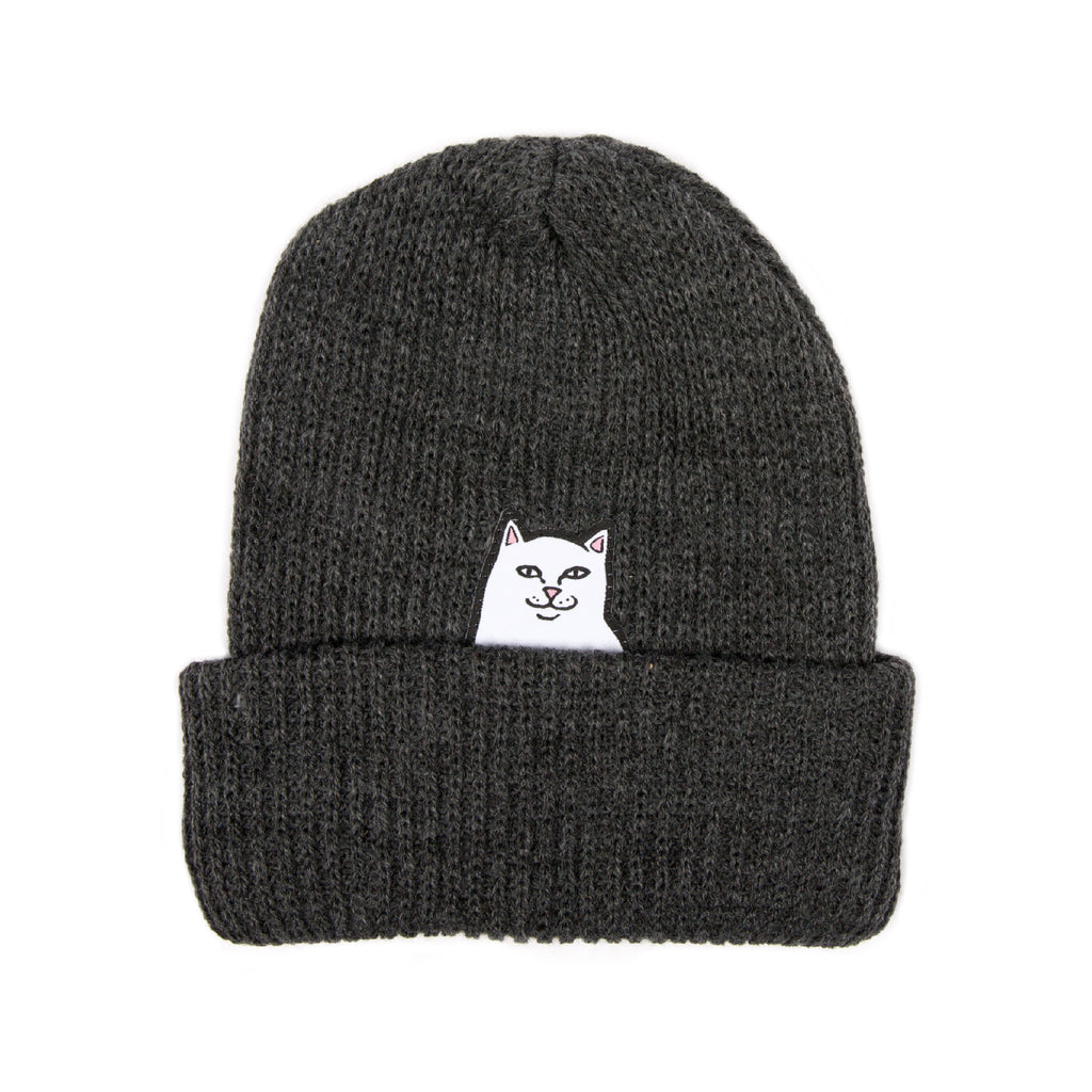 Lord Nermal Ribbed Beanie (Charcoal)