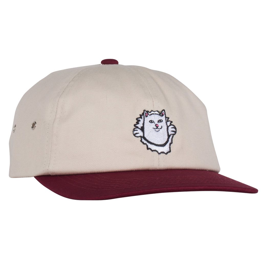 Nermamaniac 6 Panel (Tan / Burgundy)