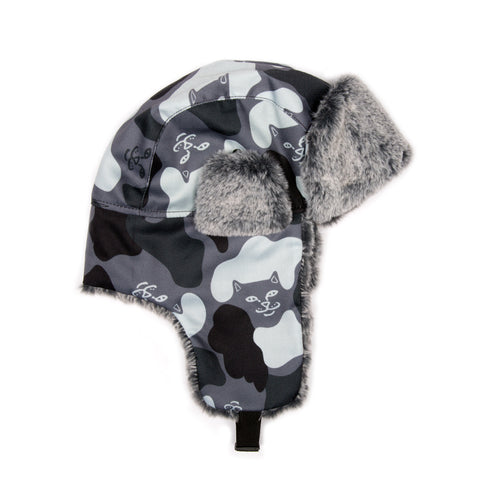 Nerm Camo Aviator Hat (Blackout Camo)