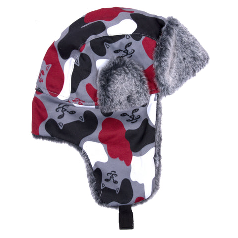 Nerm Camo Aviator Hat (Red Camo)