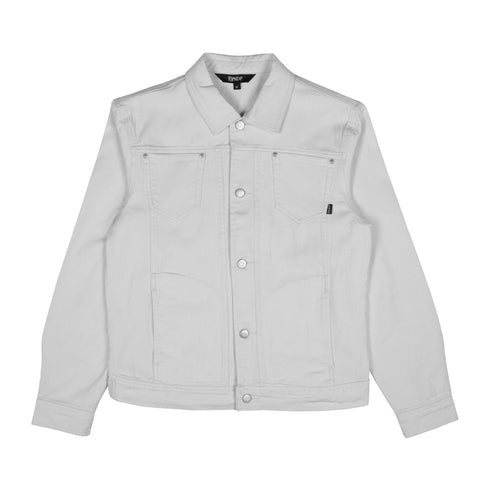 Nermcasso Flower Denim Jacket (White)