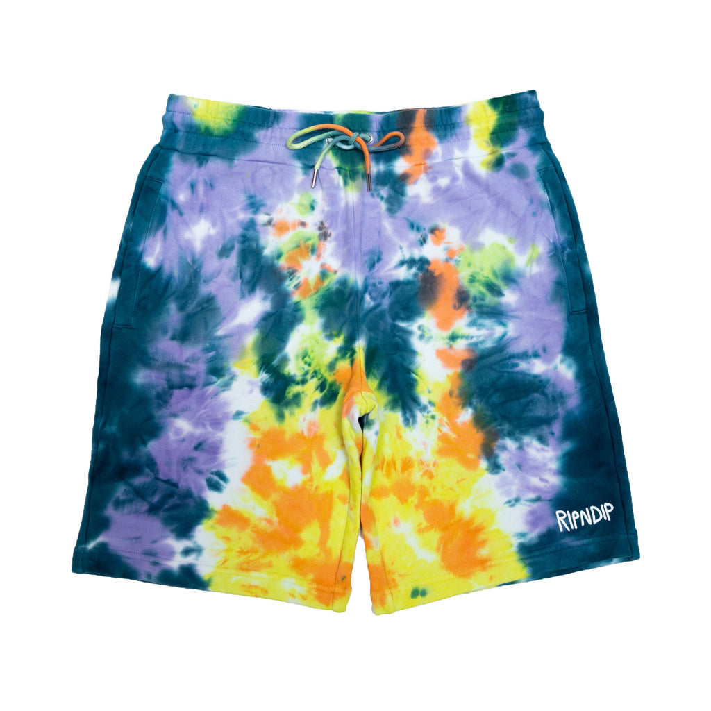 Peek A Nermal Sweat Shorts (Multi Tie Dye)