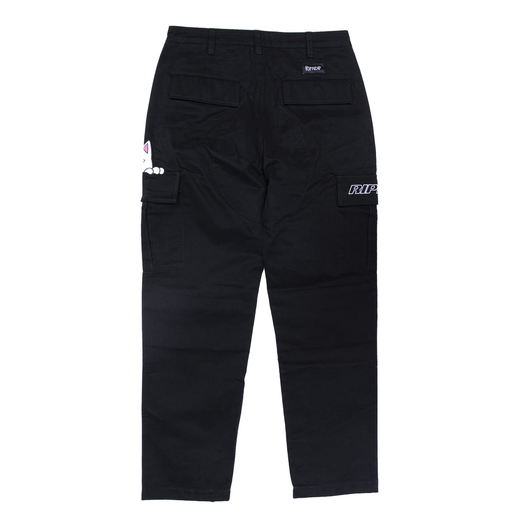 Peek A Nermal Cargo Pants (Black)