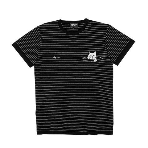Peek A Nermal Knit Tee (Black)