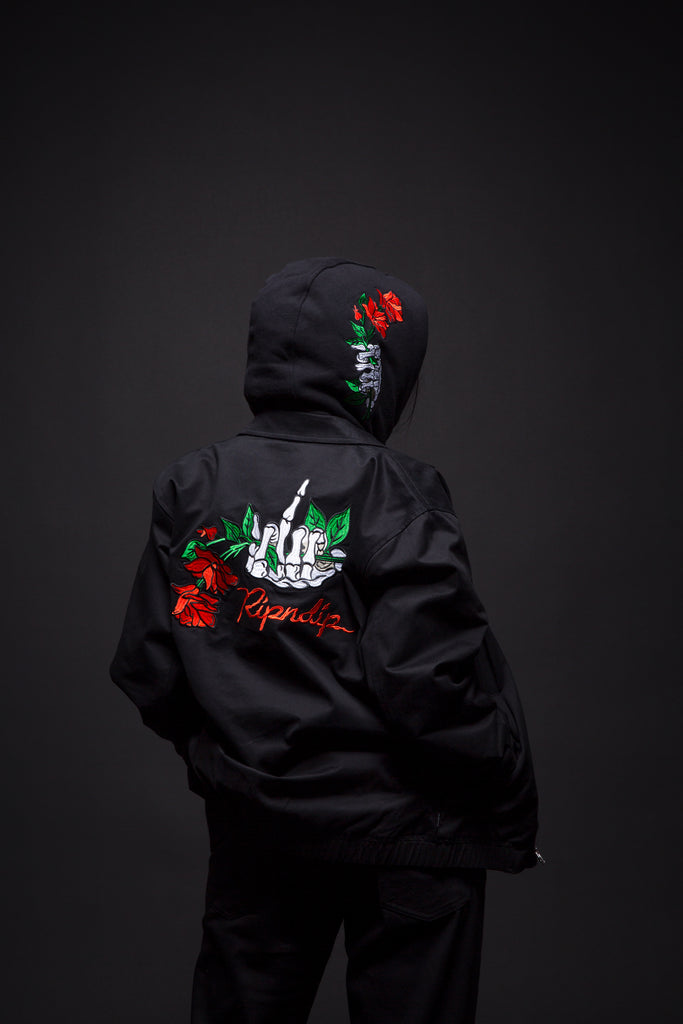 Dead Rose Cotton Coach Jacket (Black)