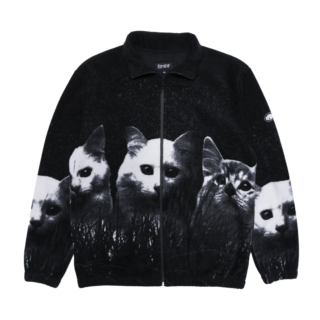 Field Of Cats Sherpa Jacket (Black)