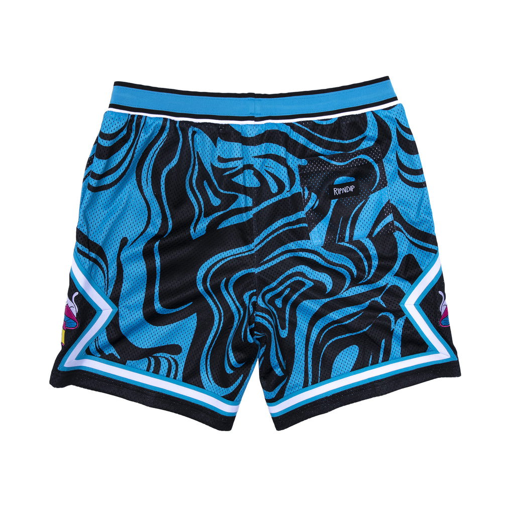 Psychedelic Basketball Shorts (Black / Blue)