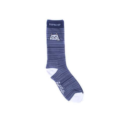 Peek A Nermal Socks (Navy)