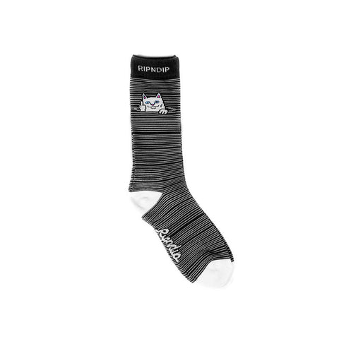 Peek A Nermal Socks (Black)
