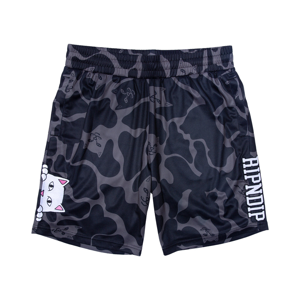 Peeking Nermal Jersey Shorts (Black Camo)