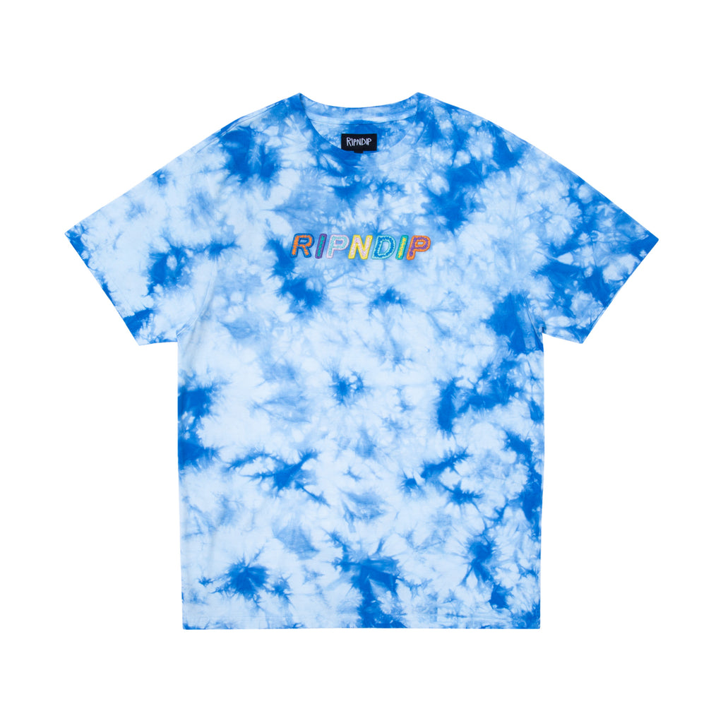 Prisma Embroidered Tee (Blue Lightning Wash)
