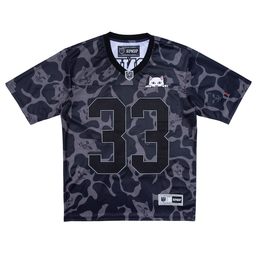 Peeking Nermal Football Jersey (Black Camo)