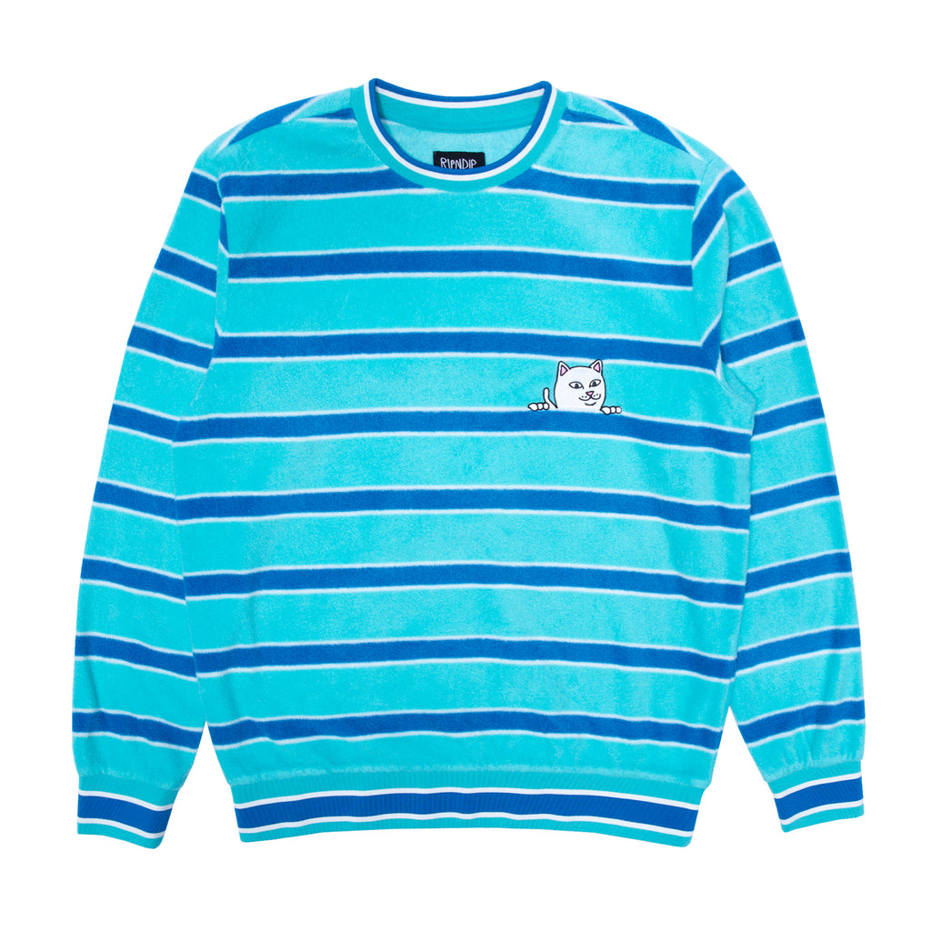 Peeking Nermal Polar Fleece Long Sleeve (Blue)
