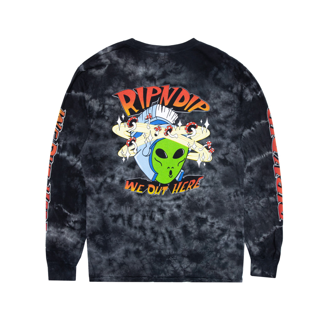Out Of This World Long Sleeve (Black Lightning Wash)
