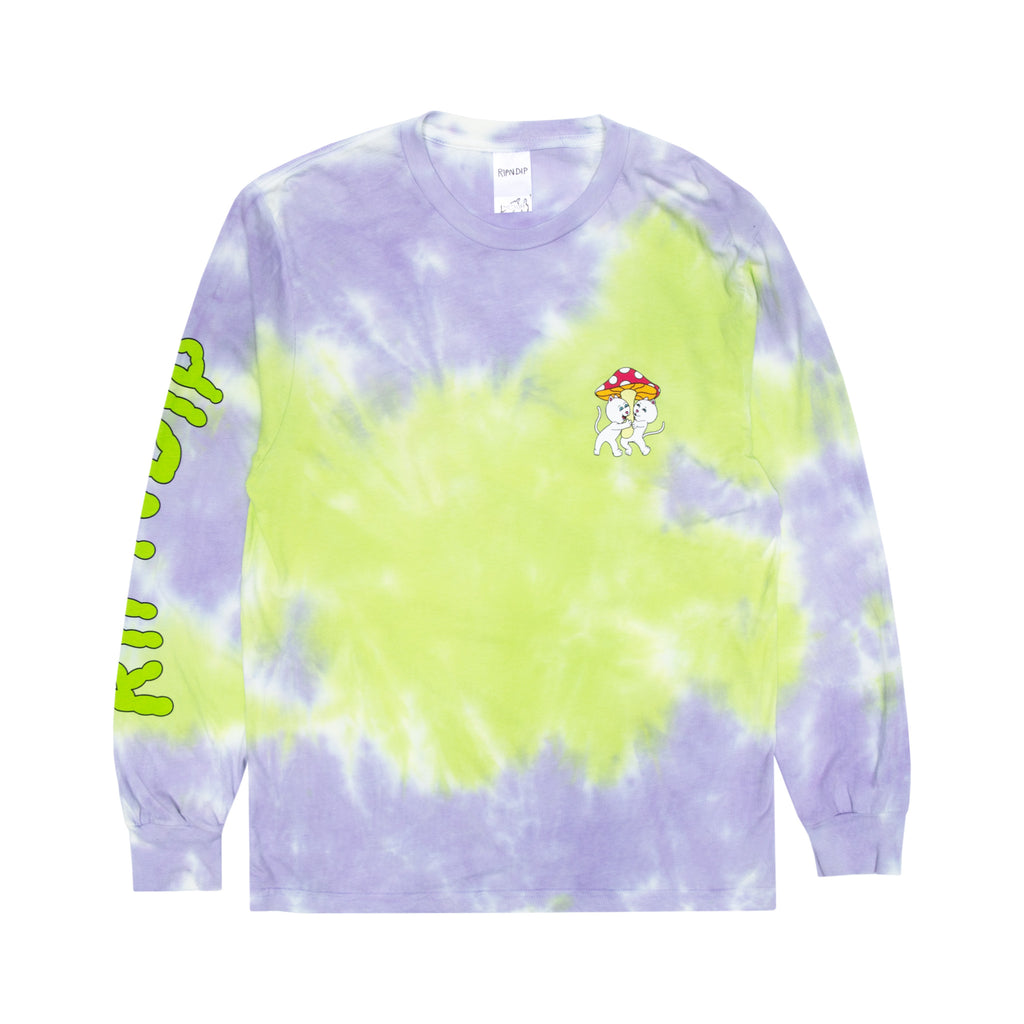 Sharing Is Caring Long Sleeve (Neon/Lavender Dye)