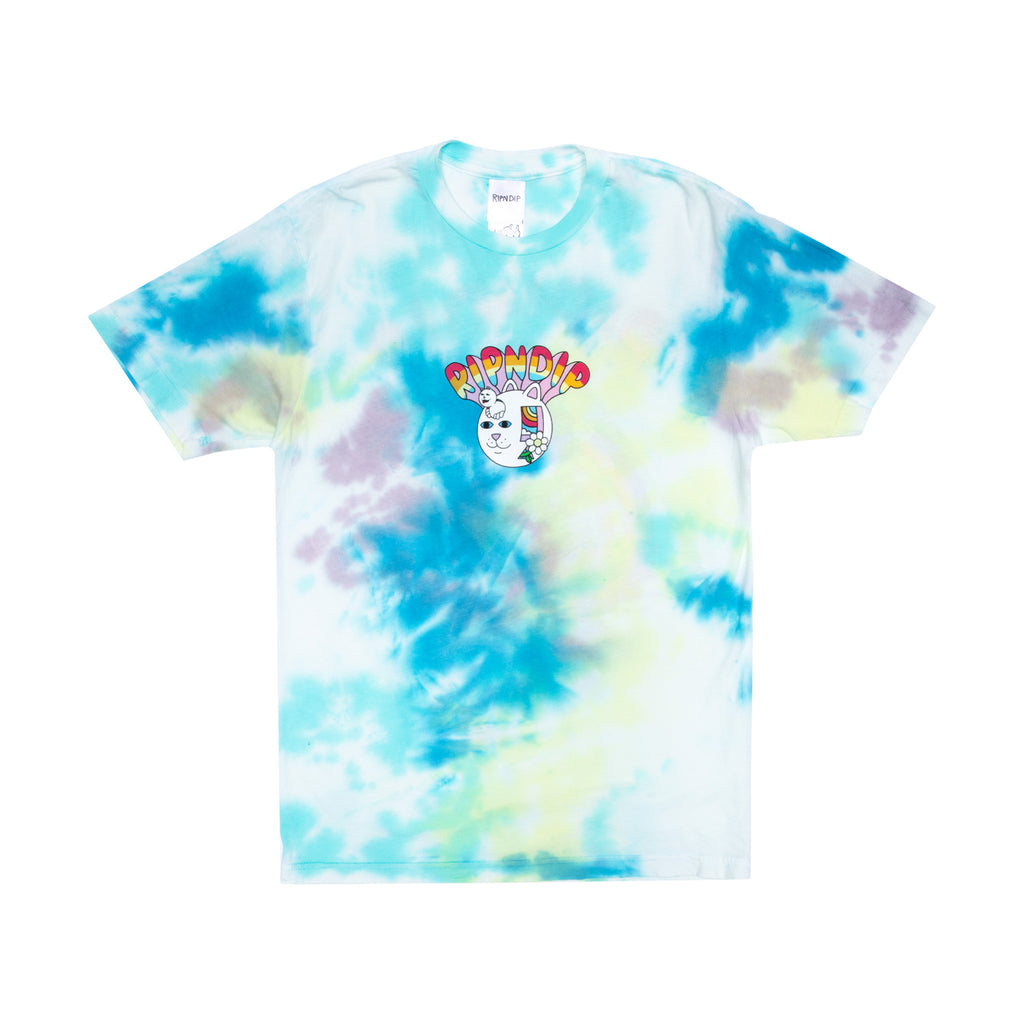 Out Of The Box Tee (Blue/ Yellow Tie Dye)
