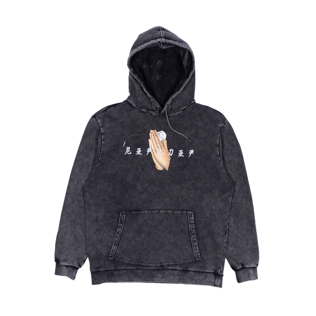 Chaos Hoodie (Black Mineral Wash)