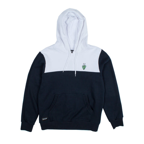 Nermal Leaf 2 Panel Hoodie (White/Navy)