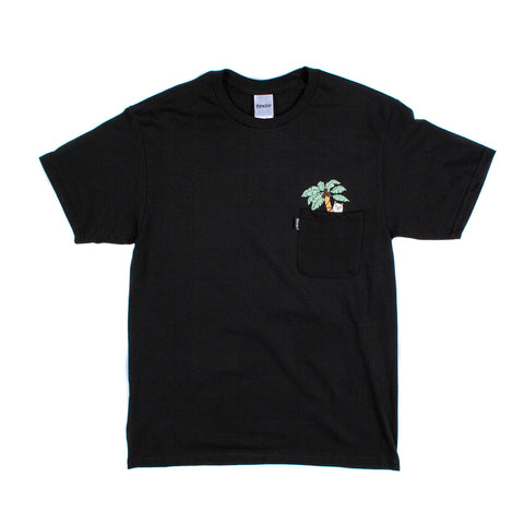 Nermal Leaf Pocket Tee (Black)