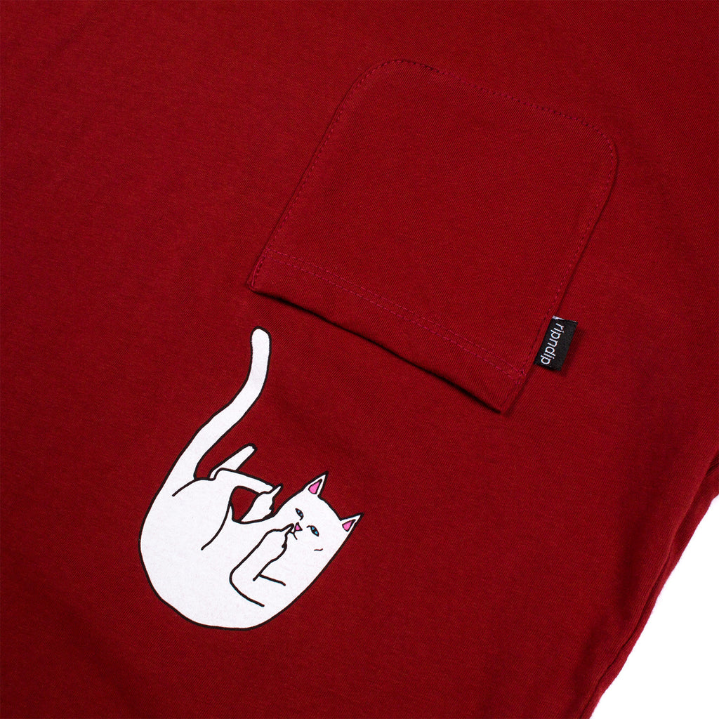 Falling For Nermal Pocket Tee (Burgundy)