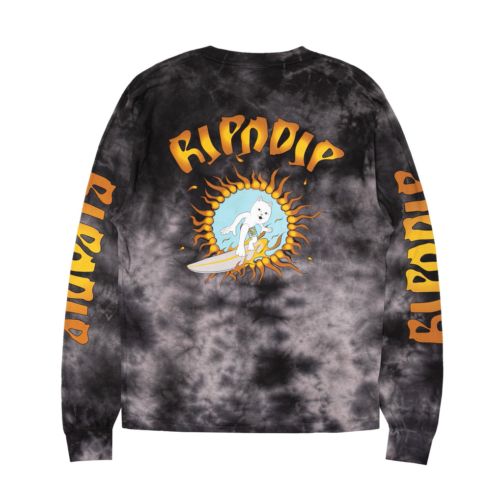 Surfs Up L/S (Black Lightning Wash)
