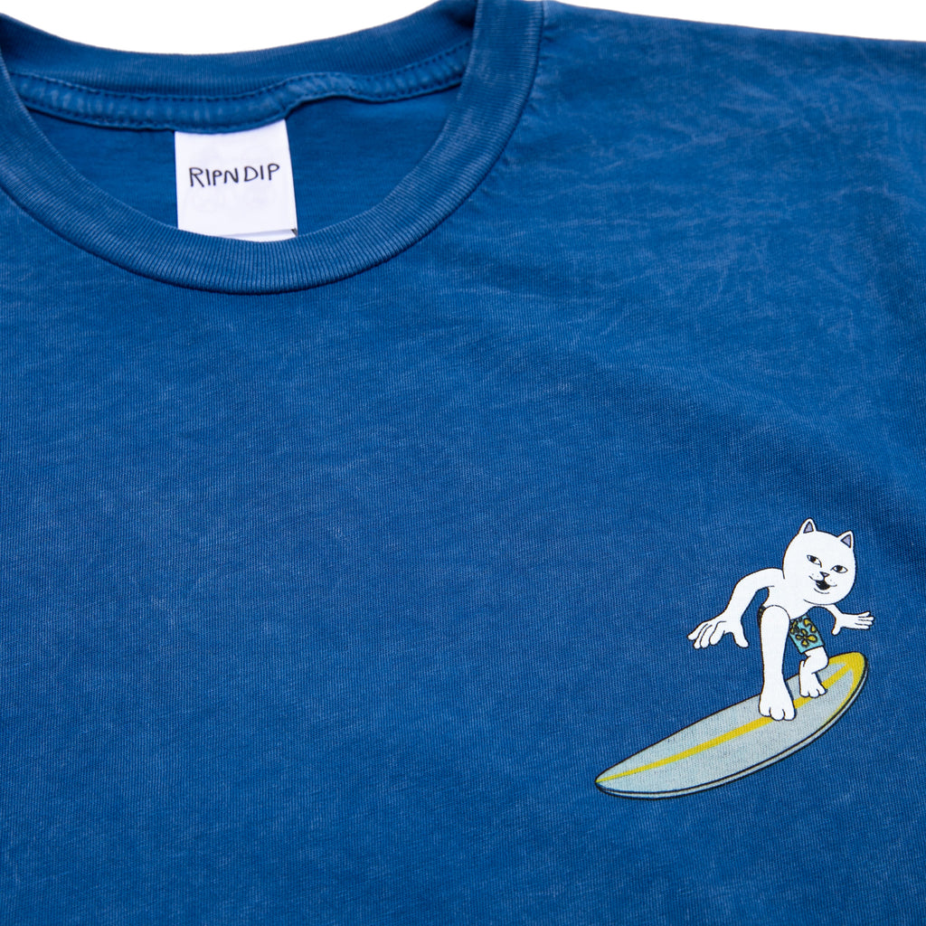 Surfs Up Tee (Blue Mineral Wash)