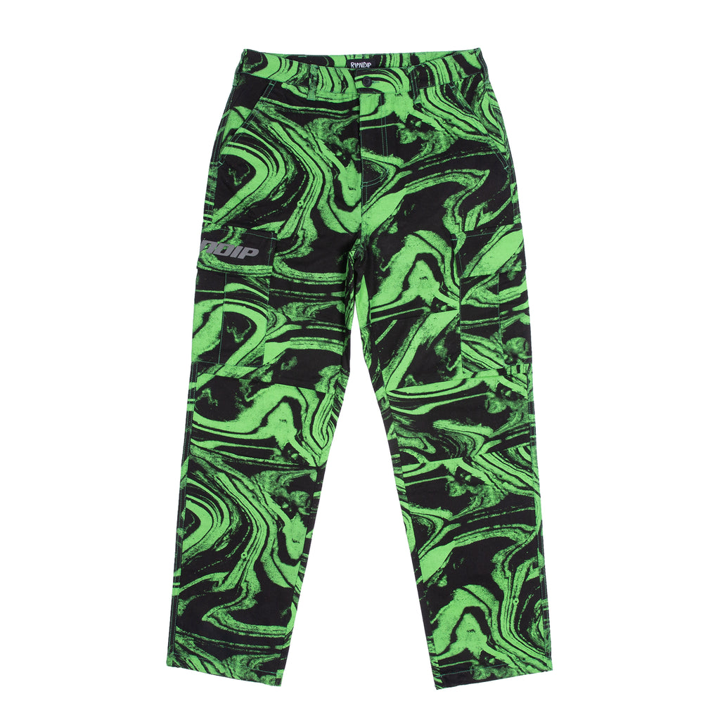 Swamp Cargo Pants (Black / Green)