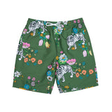 Blooming Nerm Swim Shorts (Olive Green)