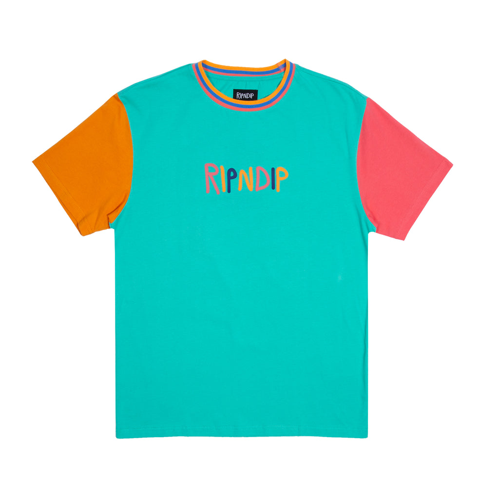 Color Block Multi Panel Tee (Multi)