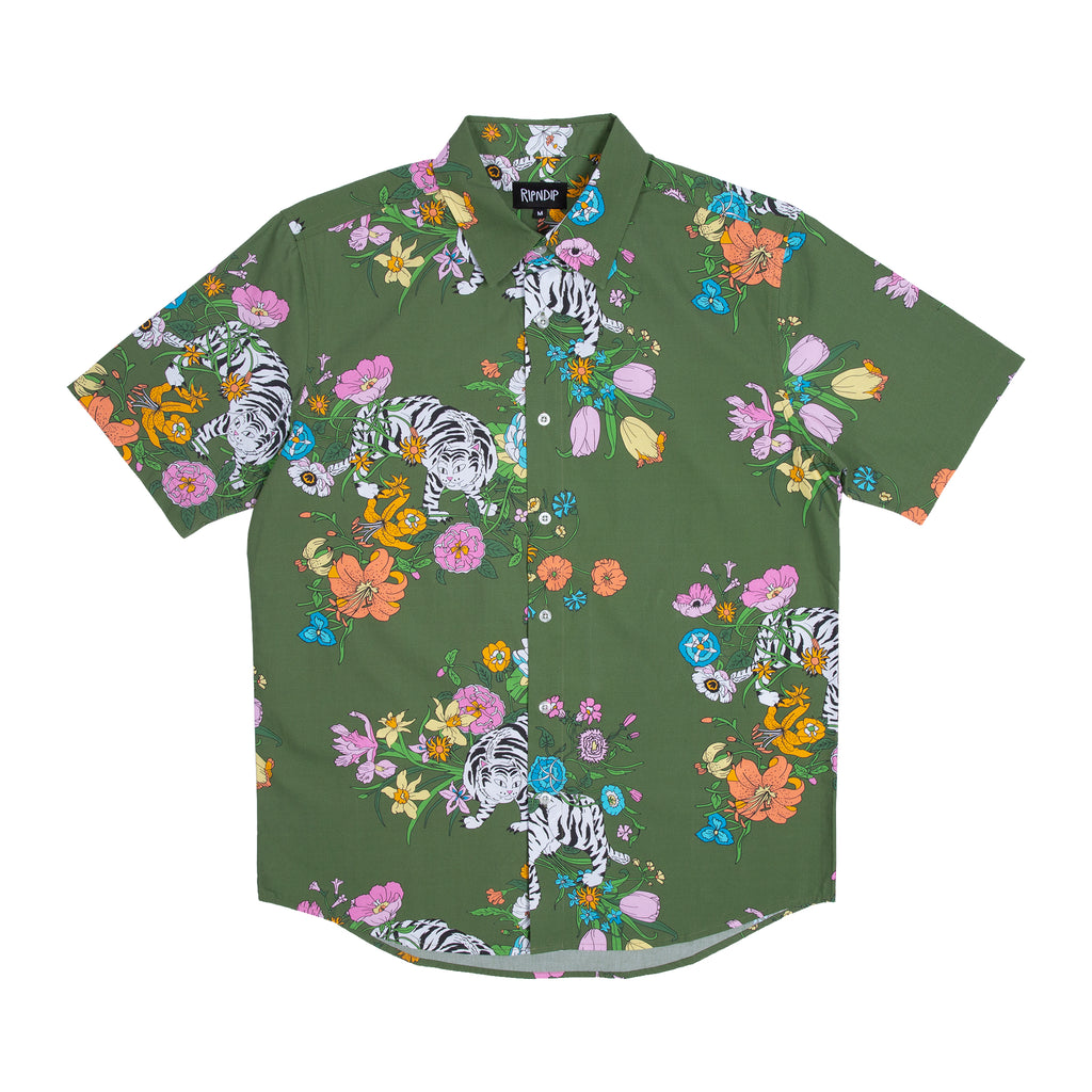 Blooming Nerm Button Up (Olive Green)