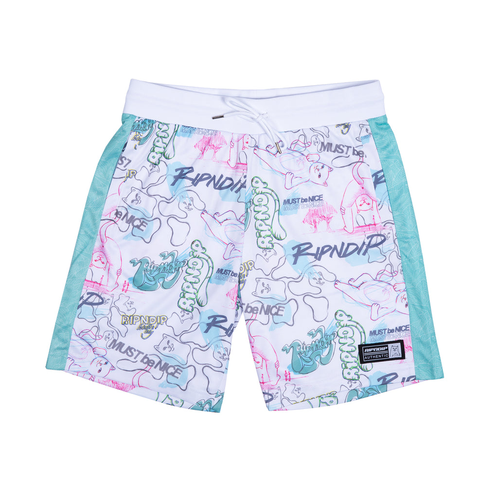 Goalaso Nylon Soccer Shorts (White / Mint)