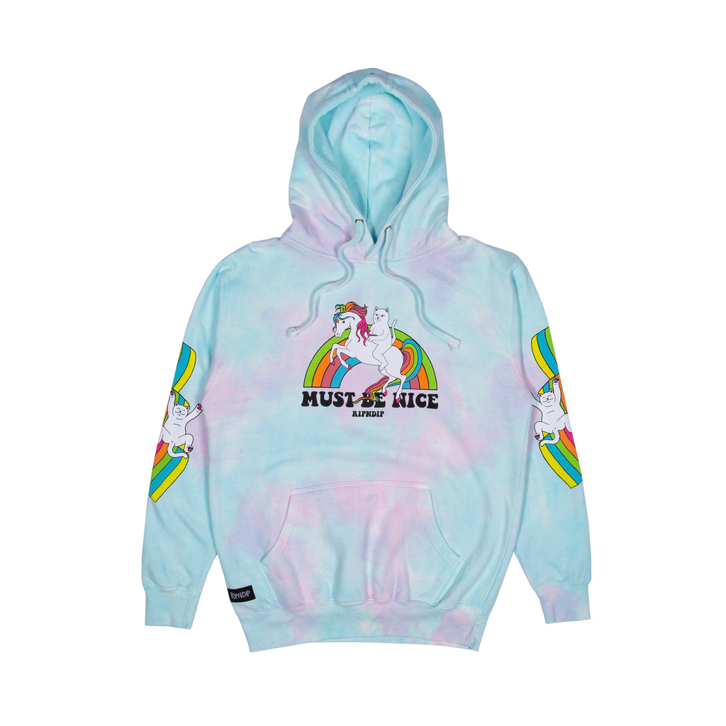 My Little Nerm Hoodie (Cotton Candy Tie Dye)