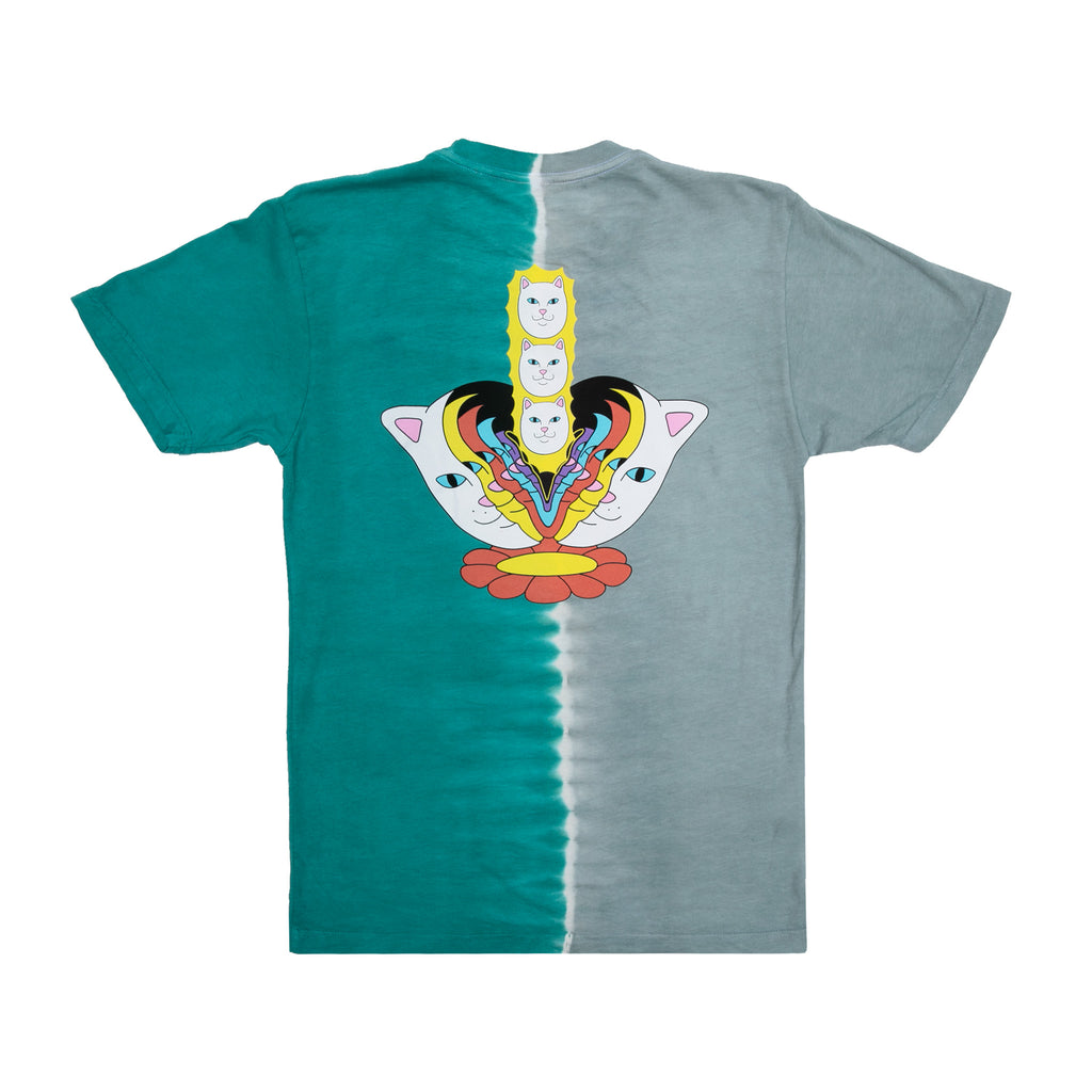 Splitting Heads Tee (Teal & Grey Split Dye)