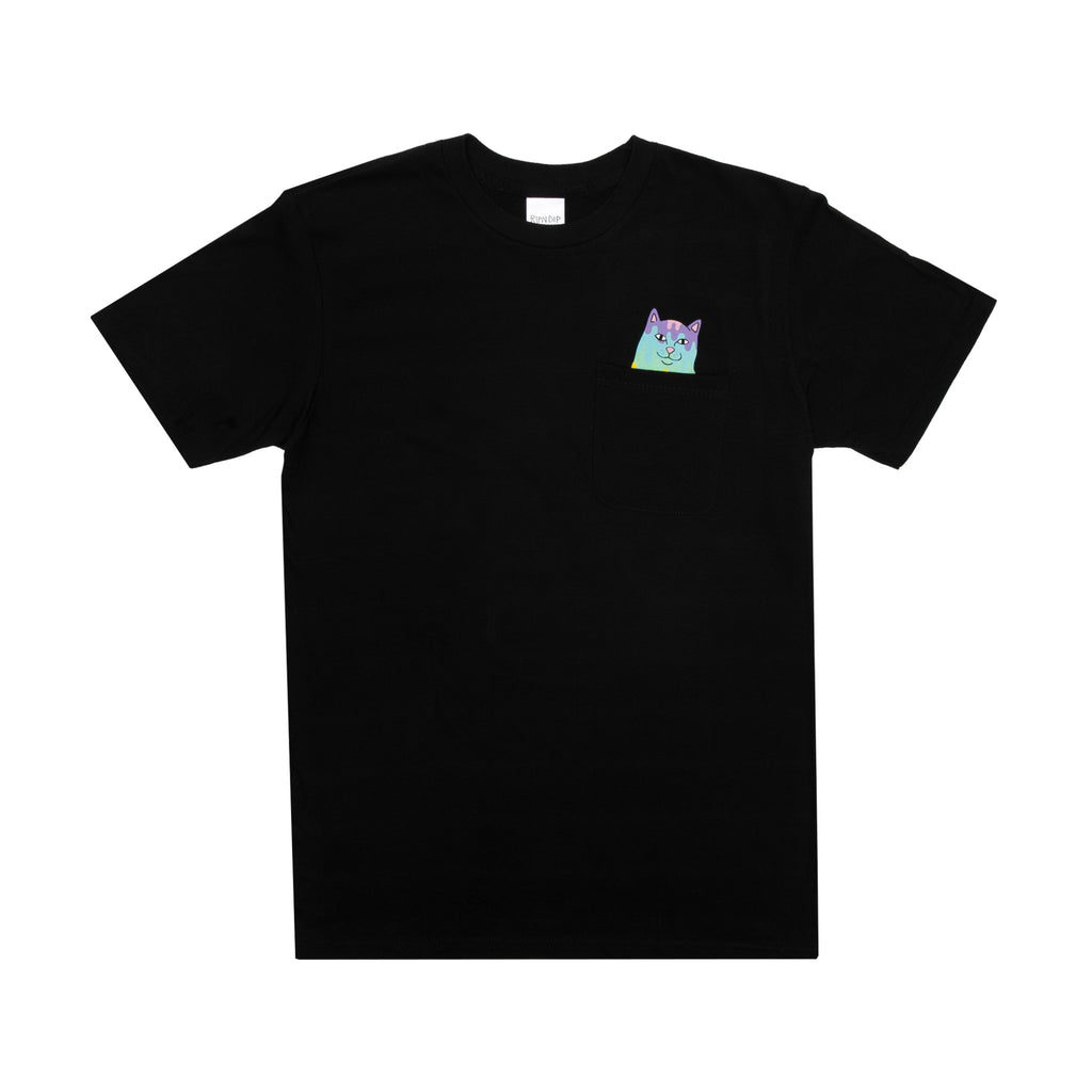Rainbow Road Pocket Tee (Black)