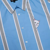 Peek A Nermal Button Up (Blue / Gray)