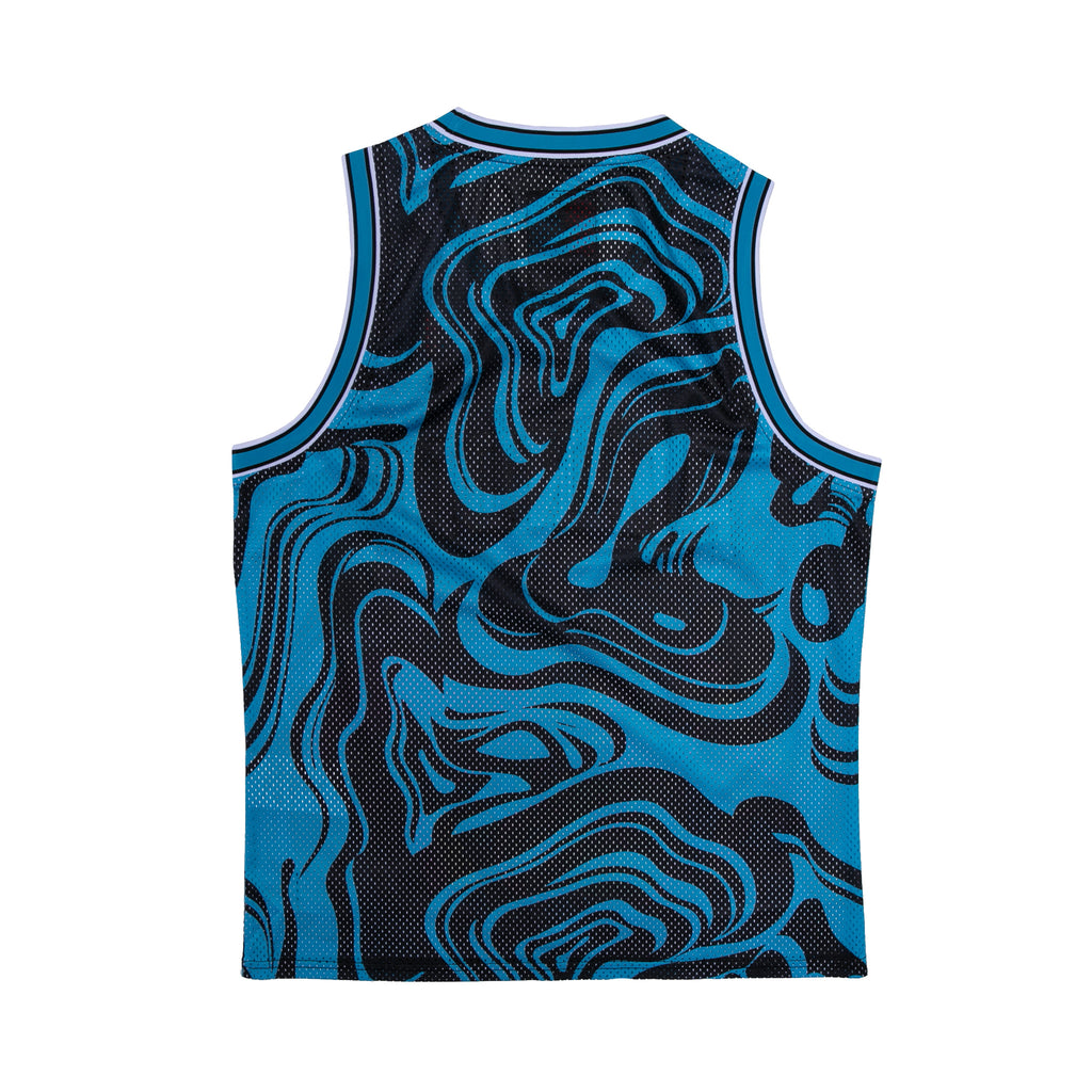 Psychedelic Basketball Jersey (Black / Blue)