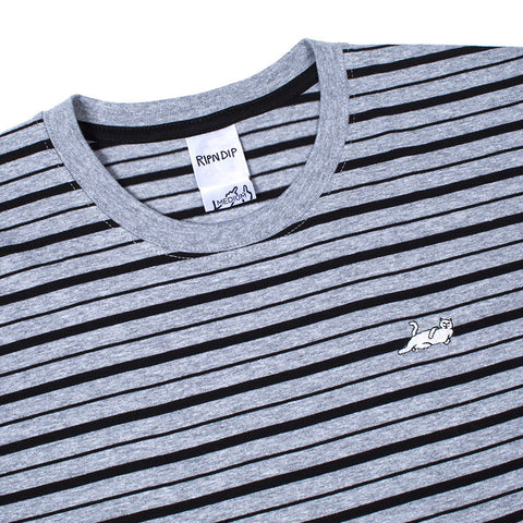 Castanza Stripe Tee (Heather Grey)