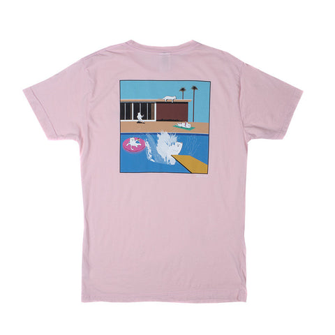 A Nermal Splash Pocket Tee (Light Pink)