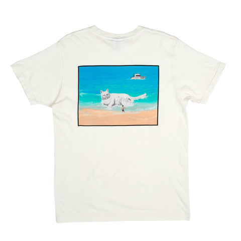 Beached Nermal Pocket Tee (Natural)