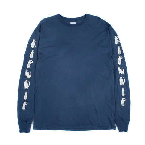 RipNDip Cats L/S (Washed Blue)
