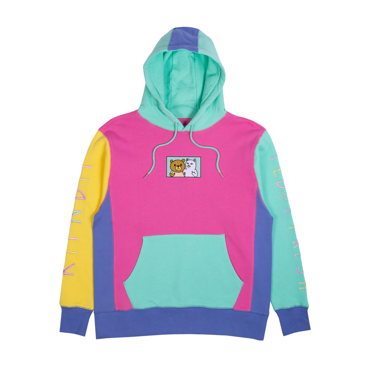Ripndip Teddy Fresh 2.0 Color Block Hoodie (Multi) by Ripndip