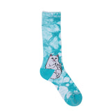 Lord Nermal Socks (Baby Blue Tie Dye)