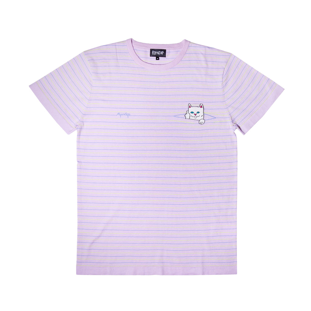 Peek A Nermal Knit Tee (Lavender / Lime)