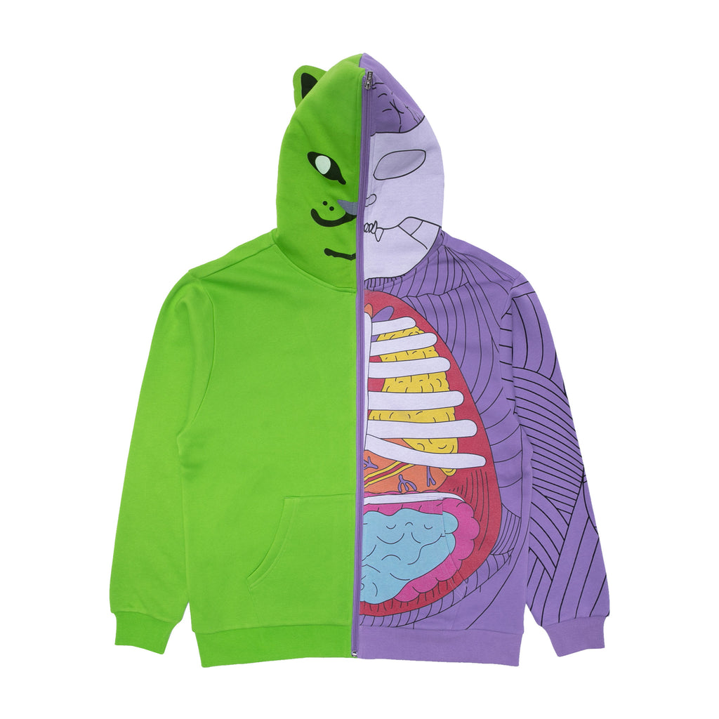 R Nerm Æ-09 Anatomy Full Zip Hoodie (Neon/Purple)