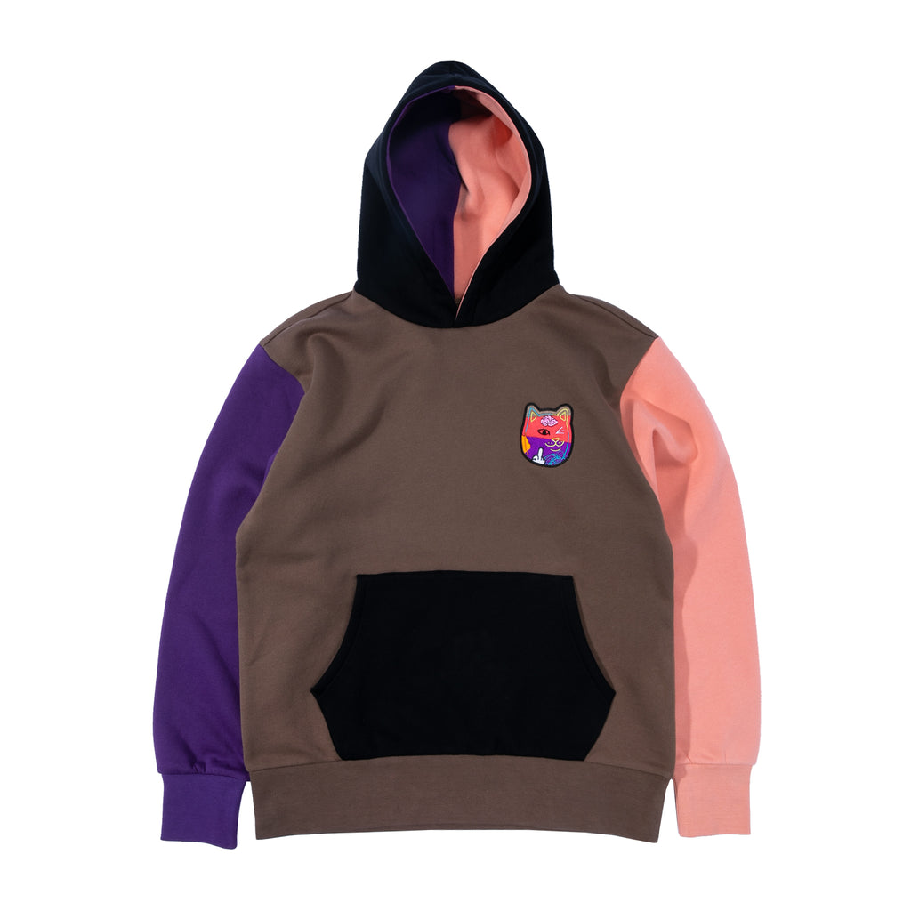 Kaleidoscopic Nerm Hoodie (Brown/Black)